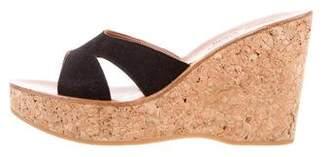 K Jacques St Tropez Suede Wedge Sandals