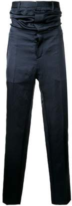 Y/Project Y / Project high-waisted satin trousers