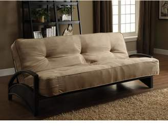 DHP Alessa Black Metal Futon Frame w/ Coil Full Futon Mattress, Multiple Colors and Multiple Mattress Thicknesses