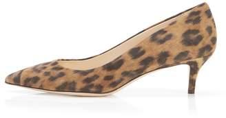 Marion Parke Must Have 45 Leopard | Suede Kitten Heel Pump