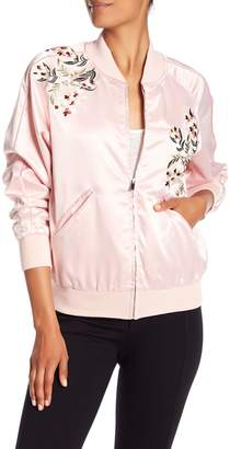 Catherine Malandrino Members Only Floral Detail Jacket
