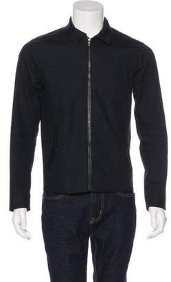 Vince Leather-Trimmed Work Jacket