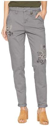 Jag Jeans Dana Chino Pants w/ Embroidery Women's Casual Pants