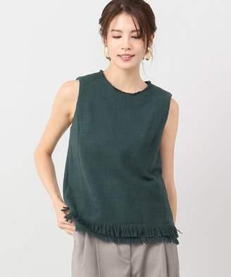 Iéna (イエナ) - VERMEIL par iena 手織りコットン ノースリーブブラウス