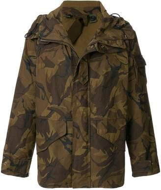 Ten C Ten-C camouflage print jacket