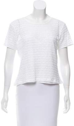 agnès b. Short Sleeve Lace Top
