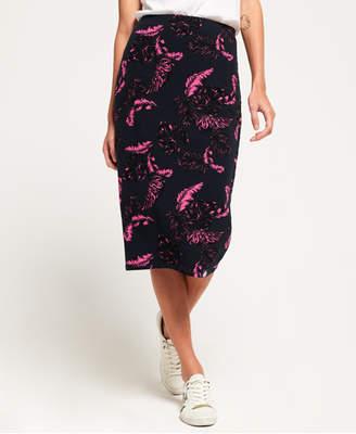 Superdry Beach Leaf Pencil Skirt