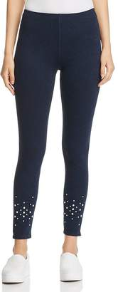Lysse Faux-Pearl Embellished Denim Leggings