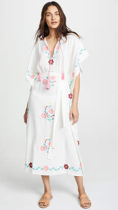 Ophelia BLUE BOHEME Embroidered Caftan