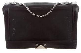 Emporio Armani Leather-Trimmed Mesh Shoulder Bag w/ Tags