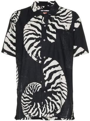 Double Rainbouu Beach House shell print cotton Hawaiian shirt