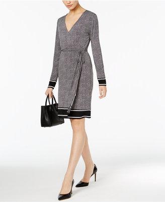 MICHAEL Michael Kors Printed Wrap Dress $125 thestylecure.com