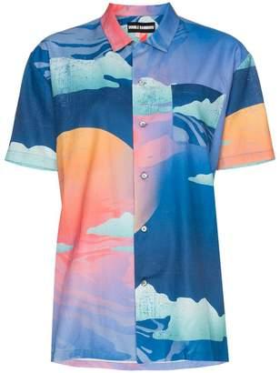 Double Rainbouu Wet Dream print cotton Hawaiian shirt