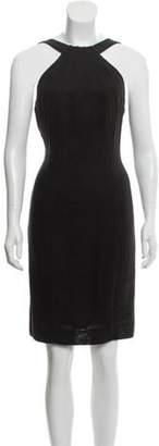 Armani Collezioni Linen Sheath Dress Black Linen Sheath Dress