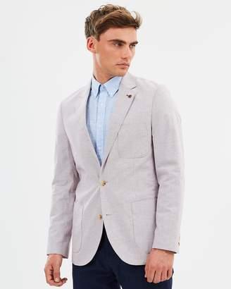 Brooksfield Linen Blend Pinstripe Blazer