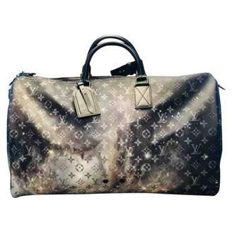 Louis Vuitton Keepall Anthracite Cloth Bag