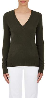 Barneys New York WOMEN'S CASHMERE V-NECK SWEATER - LODEN SIZE S