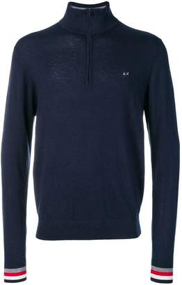 Sun 68 front zipped jumper