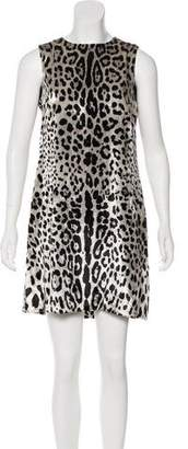 Dolce & Gabbana Leopard Print Shift Dress