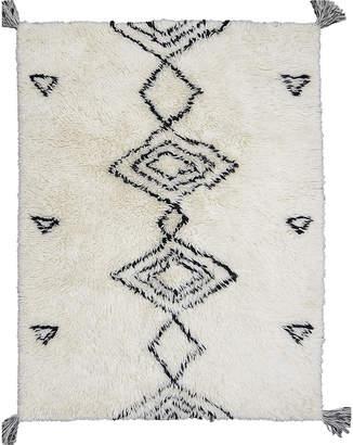 Dotts Rugs White Shaggy Agadir New Zealand Wool Rug
