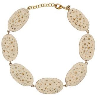 BEIGE Vanda Jacintho - Patina Oval Plate Necklace - Womens