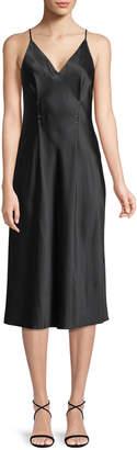 Alexander Wang Sleeveless Silk Charmeuse Camisole Midi Dress