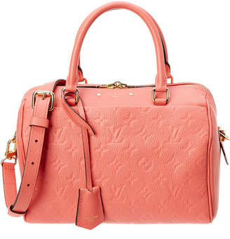 Louis Vuitton Pink Monogram Empreinte Leather Speedy 25 Bandouliere