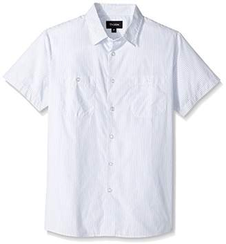 Brixton Men's Reeve Relaxed Fit Short Sleeve Woven Shirt