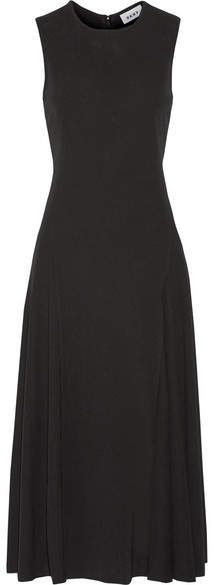 DKNY - Stretch-crepe Midi Dress - Black