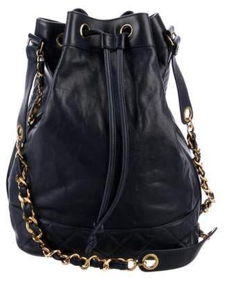Chanel Caviar Drawstring Bucket Bag