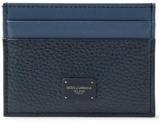 Dolce & Gabbana Two-Tone Full-Grain Leather Cardholder - Men - Blue