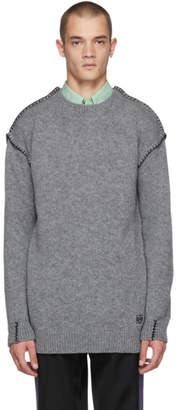Loewe Grey Blanket Stitch Sweater