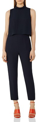REISS Flavia Tiered Sleeveless Jumpsuit $370 thestylecure.com