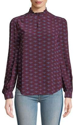 Joie Mintee F Long-Sleeve Printed Top