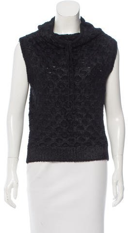 Christian Dior Textured Sleeveless Top