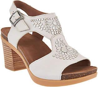 Dansko Nubuck or Suede Block Heel Sandals -Deandra