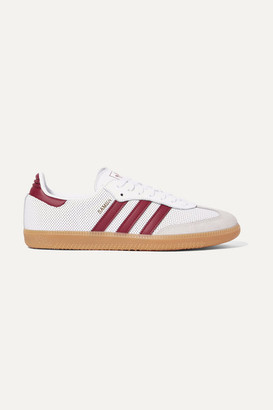 outlet store bd7c8 42a06 adidas Samba Og Perforated Leather And Suede Sneakers - White
