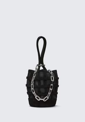 Alexander Wang (アレキサンダー ワン) - Alexander Wang Caged Roxy Mini Bucket In Black With Rhodium