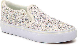 Vans Asher Toddler & Youth Slip-On Sneaker - Girl's