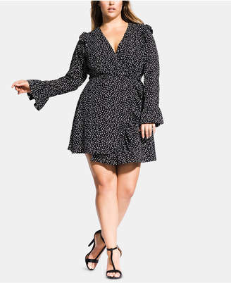 d68be61f1f3 City Chic Trendy Plus Size Printed Ruffle Romper