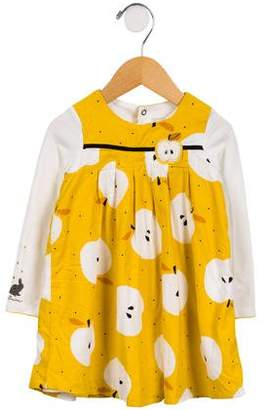 Catimini Girls' Printed Long Sleeve Dress