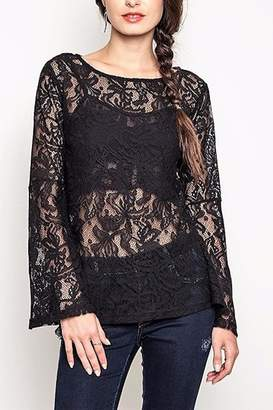 26364e5ccb3ed People Outfitter Black Lace Top