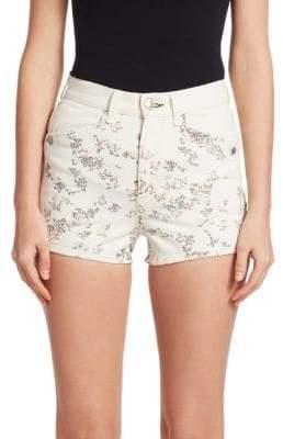 Rag & Bone Ellie Floral Denim Shorts