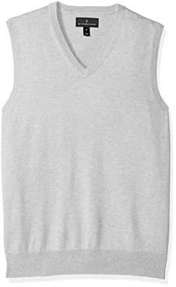 Grey Button Down Vest Mens Shopstyle