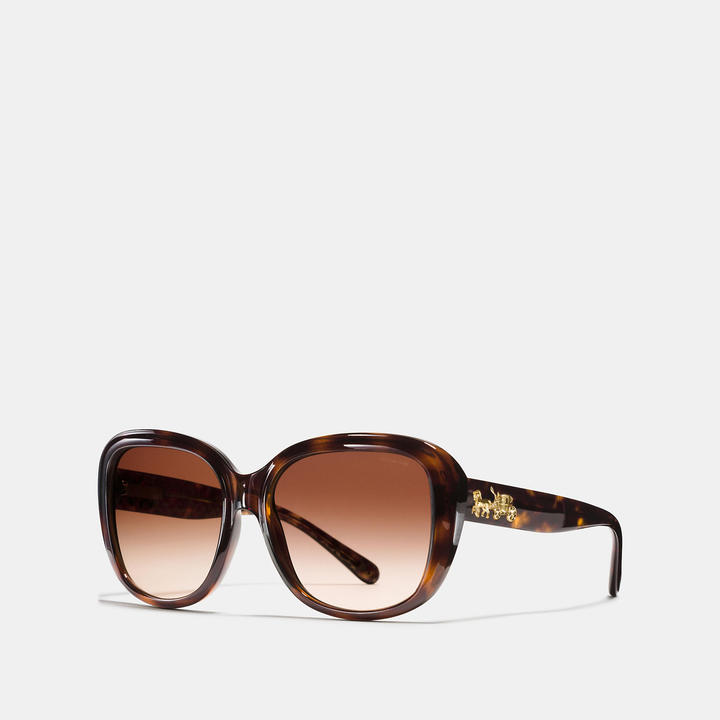Coach   COACH Coach Horse And Carriage Soft Square Sunglasses