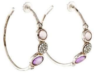 Ippolita Diamond & Amethyst Hoop Earrings