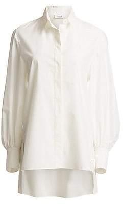 916e09cb7913d9 Akris Punto Women's Oversized Back Ruffle Blouse