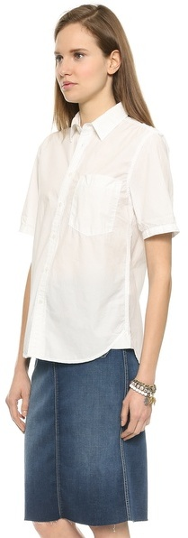 Mother Frenchie Short Sleeve Buttondown