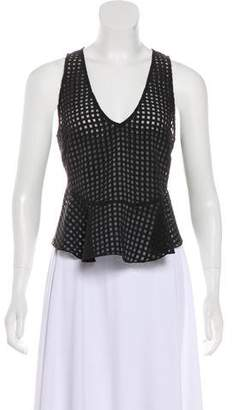 Elizabeth and James Sleeveless Gingham Top
