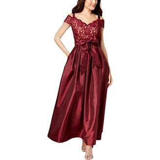 R & M Richards R&M Richards Women's one Piece Off The Shoulder Long Missy Ball Gown Dress